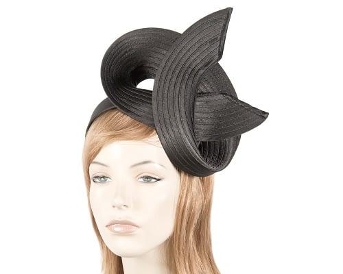 Twisted black fascinator Fascinators.com.au MA754 black