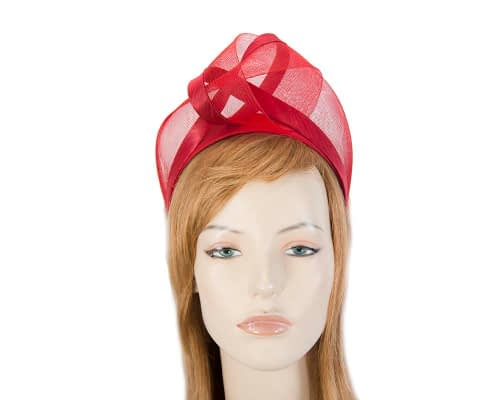 Red turban headband by Fillies Collection Fascinators.com.au S228 red