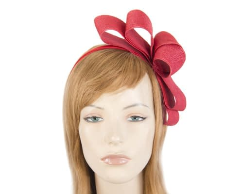 Red bow fascinator by Max Alexander Fascinators.com.au MA821 red