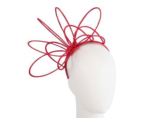 Red loops on headband fascinator Fascinators.com.au MA771 red