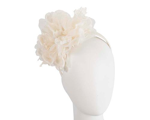 Large cream flower headband fascinator by Fillies Collection Fascinators.com.au F653 cream