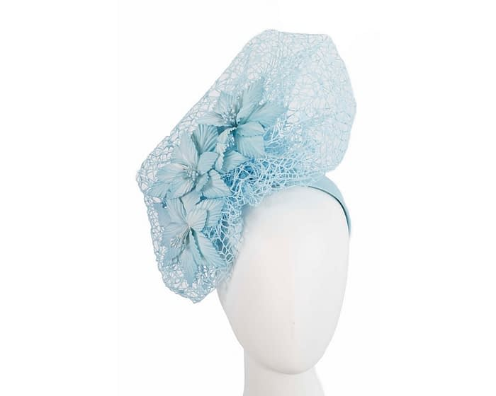 Light blue designers racing fascinator by Fillies Collection Fascinators.com.au