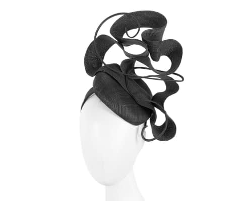 Designers black Australian Made racing fascinator by Fillies Collection Fascinators.com.au