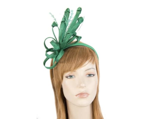 Green racing fascinator by Max Alexander Fascinators.com.au