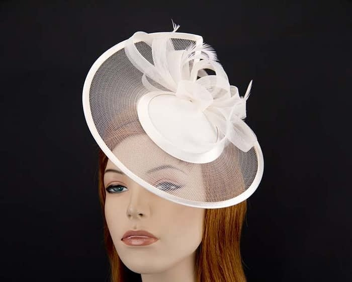 Cream cocktail hats K4806C Fascinators.com.au
