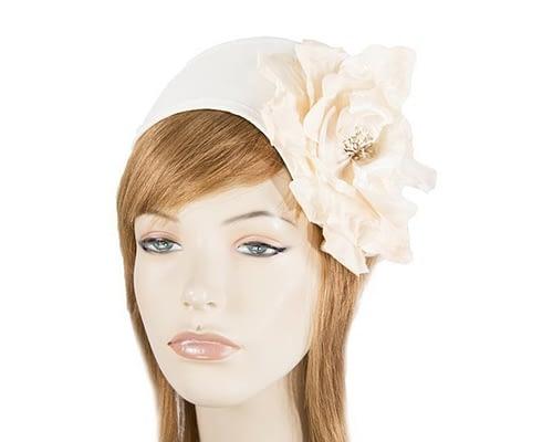Cream & nude winter headband with flower Fascinators.com.au