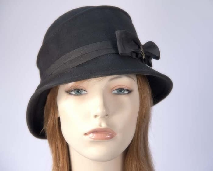 Black ladies felt hat Max Alexander J286B Fascinators.com.au