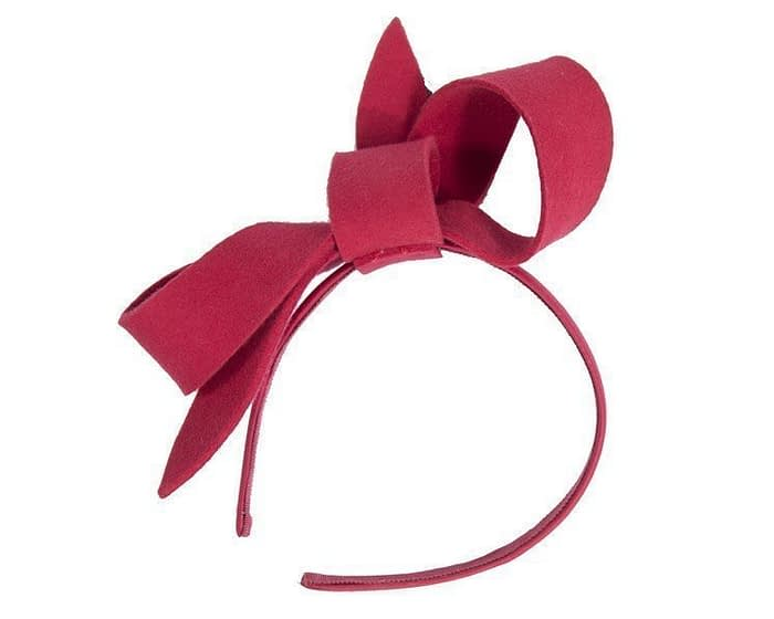 Red felt bow fascinator Fascinators.com.au