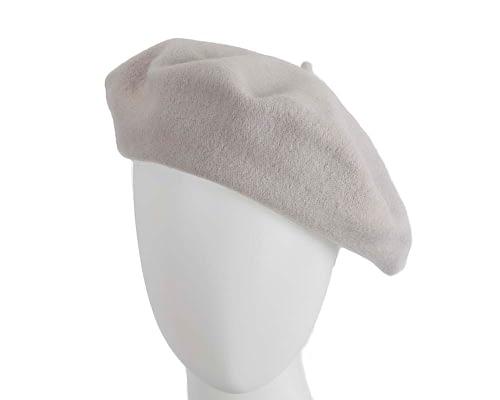 Warm silver European Made beret Fascinators.com.au