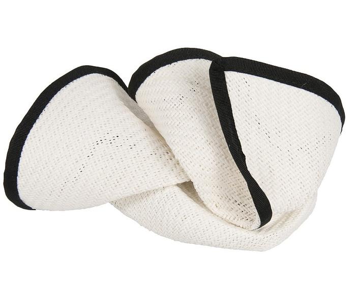 White & Black stewardess pillbox fascinator hat Fascinators.com.au