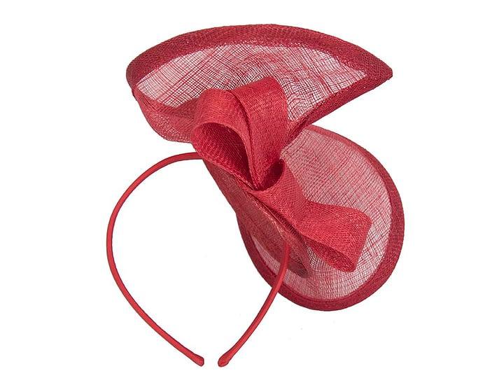 Red sinamay twist by Max Alexander Fascinators.com.au