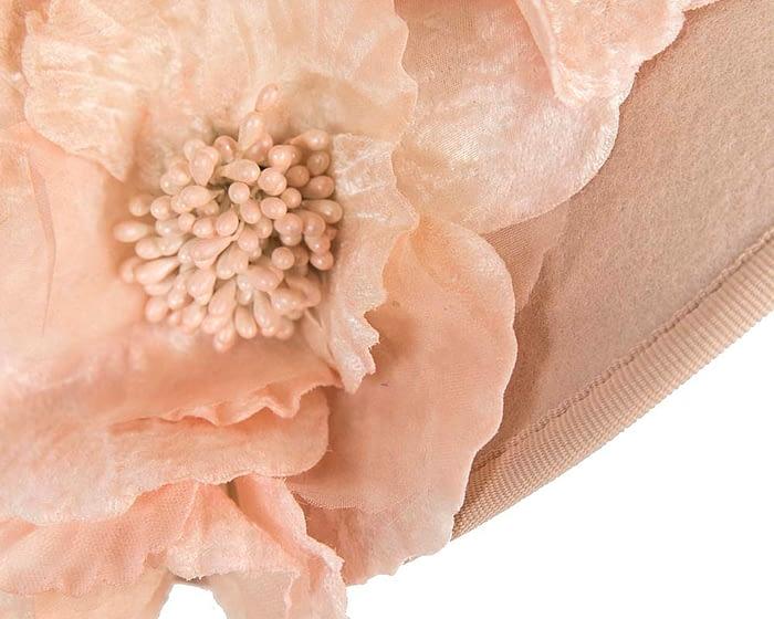 Nude Fillies Collection fascinator with flowers F591NU Fascinators.com.au