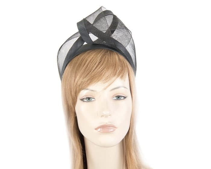 Black turban headband by Fillies Collection Fascinators.com.au