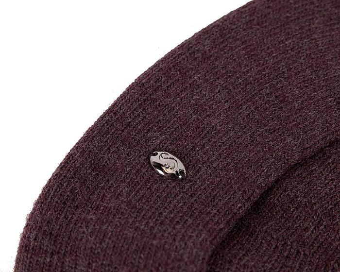 Classic warm burgundy wool beret. Made in Europe Fascinators.com.au