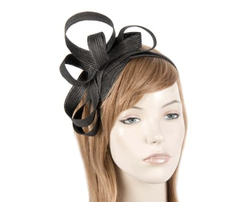Black loops racing fascinator Fascinators.com.au