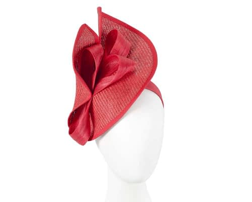Red designers racing fascinator with bow by Fillies Collection Fascinators.com.au