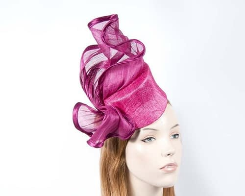 Hot pink cocktail hat S974HP Fascinators.com.au