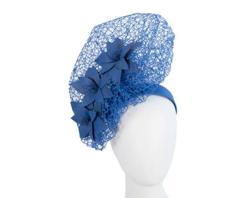 Royal blue designers racing fascinator by Fillies Collection Fascinators.com.au