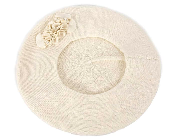 Warm cream wool beret. Made in Europe Fascinators.com.au