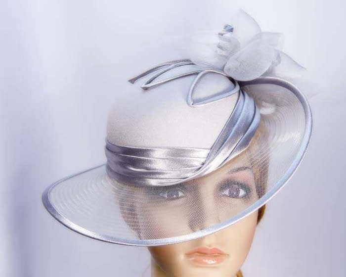 Silver Mother of the Bride hat Fascinators.com.au