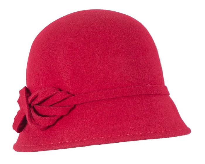 Red felt bucket hat Fascinators.com.au