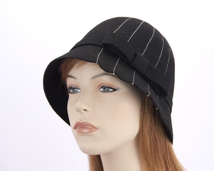 Black cloche hats J174B Fascinators.com.au