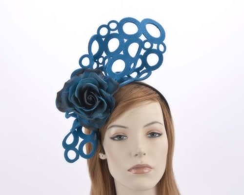 Blue racing fascinator S140BL Fascinators.com.au
