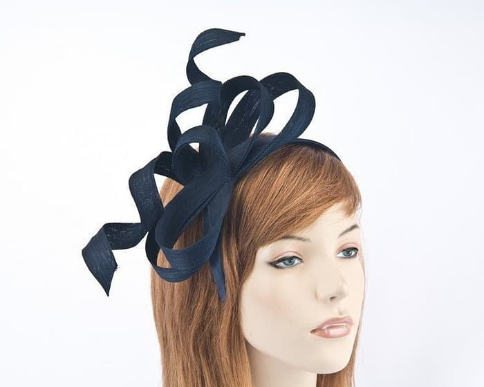 Australian made navy Fillies Collection racing fascinator for Melbourne Cup S169N Fascinators.com.au