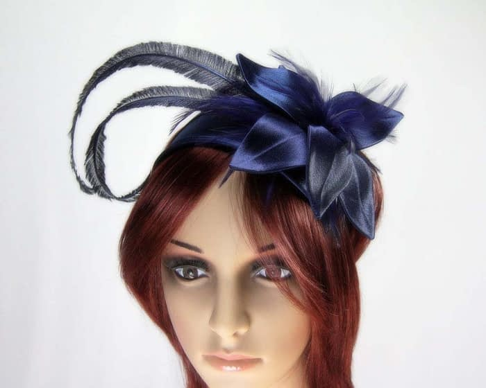 Navy fascinators K4799B Fascinators.com.au