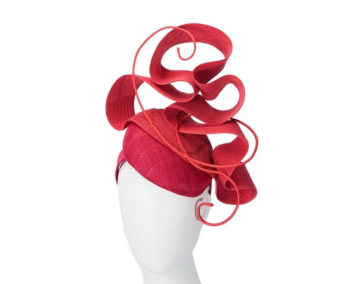 Designers red Australian Made racing fascinator by Fillies Collection Fascinators.com.au