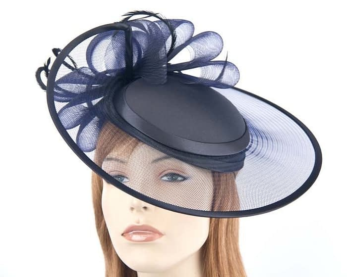 French Navy fashion hats H835FN Fascinators.com.au