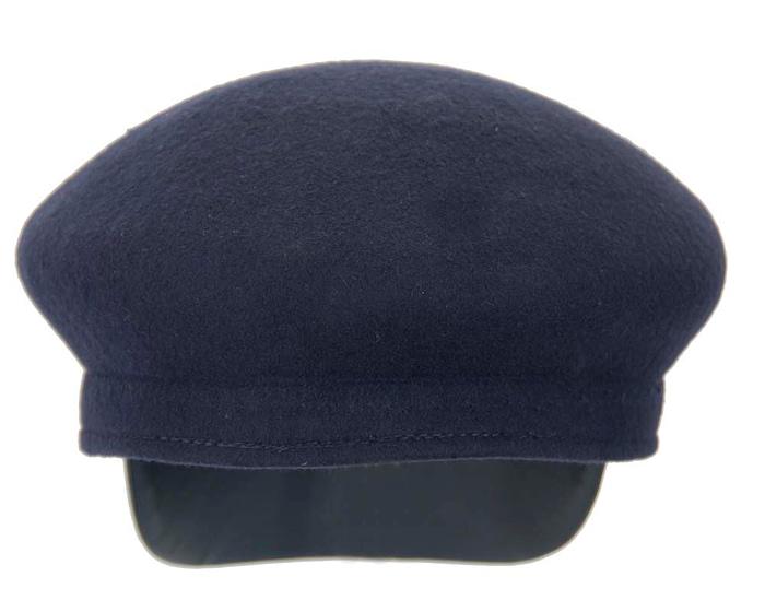 Navy felt captains cap fashion hat Fascinators.com.au
