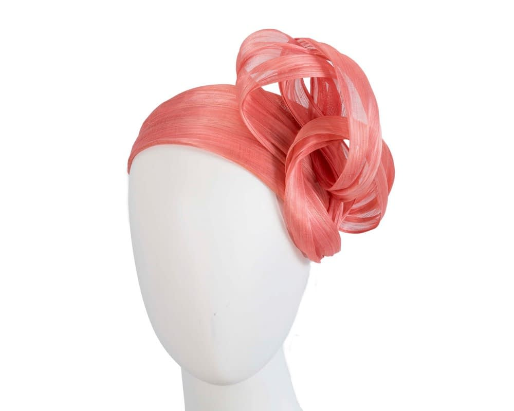 Coral bow racing fascinator by Fillies Collection
