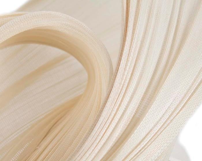 Bespoke cream jinsin waves racing fascinator by Fillies Collection Fascinators.com.au