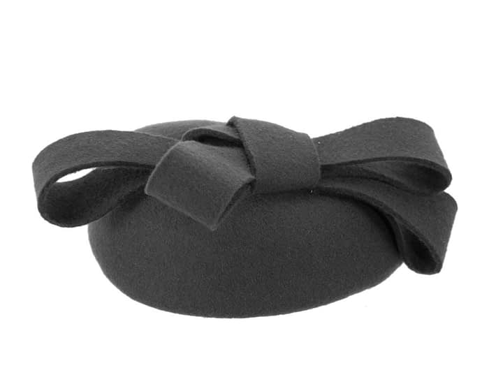 Black pillbox with bow Fascinators.com.au