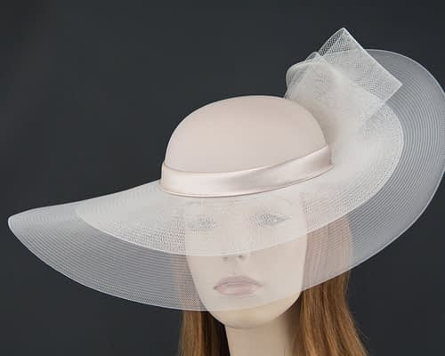 Nude fashion hat for Melbourne Cup races & special occasions S152NU Fascinators.com.au