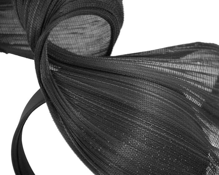 Black jinsin wave fascinator by Fillies Collection Fascinators.com.au