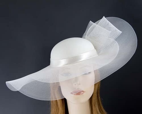 Cream fashion hat for Melbourne Cup races & special occasions S152C Fascinators.com.au