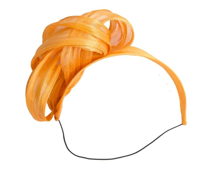 Orange retro headband racing fascinator by Fillies Collection Fascinators.com.au