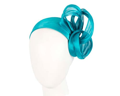 Turquoise retro headband racing fascinator by Fillies Collection Fascinators.com.au