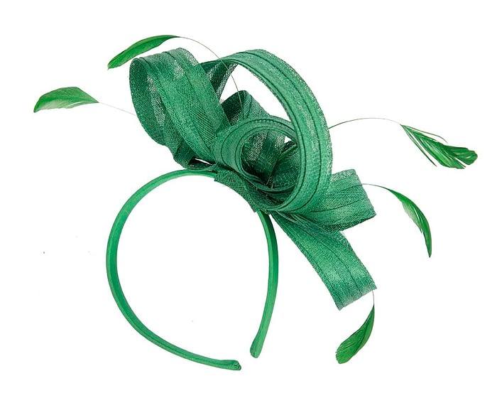 Green sinamay loops racing fascinator by Max Alexander Fascinators.com.au