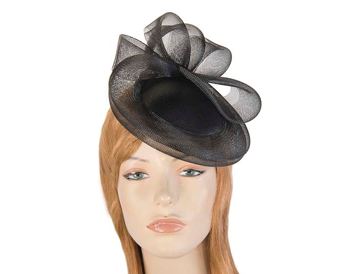 Black custom made cocktail hats Fascinators.com.au