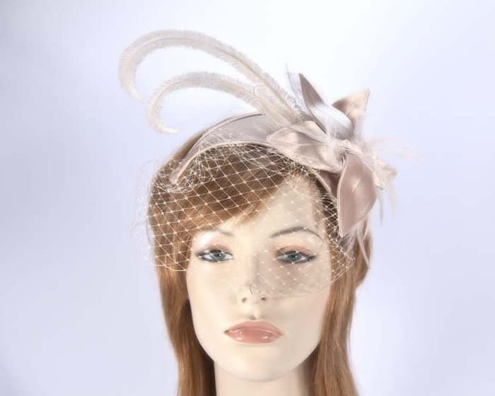 Buff fascinators K4799VBU Fascinators.com.au