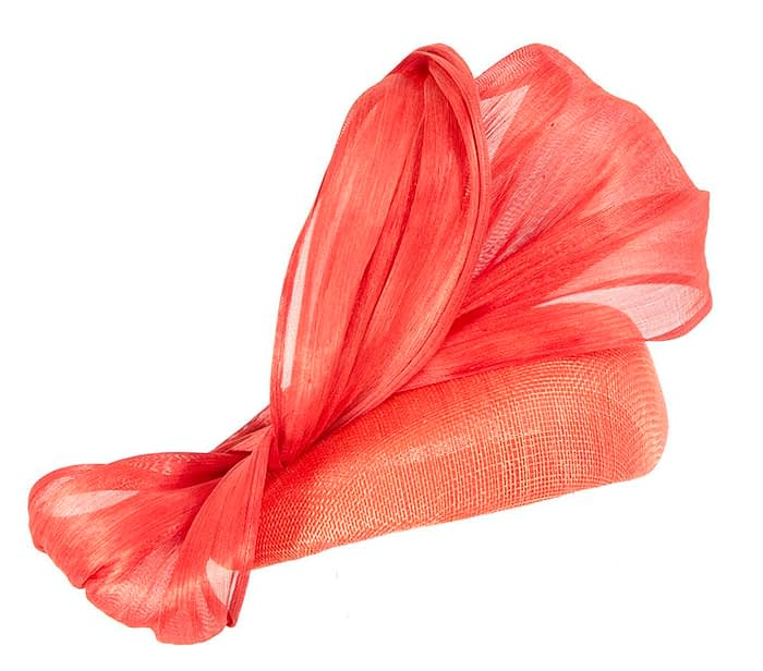 Orange pillbox silk abaca bow Fascinators.com.au