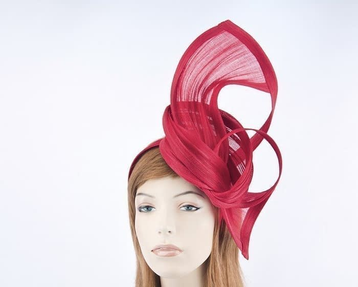 Red Melbourne Cup fascinator by Fillies Collection S159R Fascinators.com.au