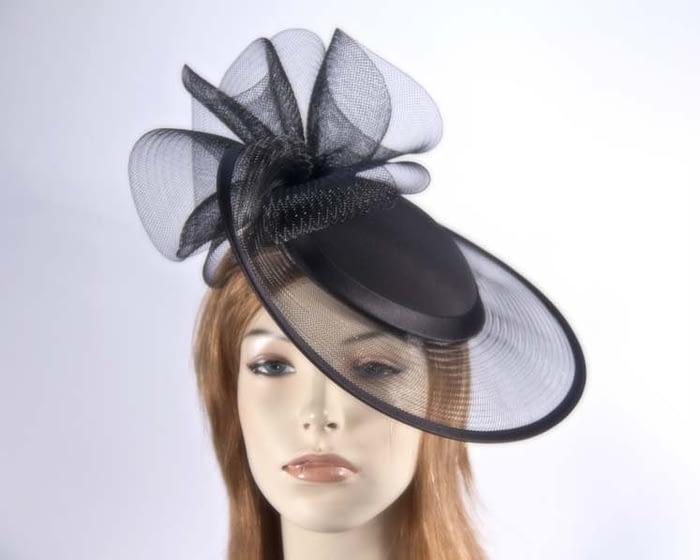 Black mother of the bride hats H5008B Fascinators.com.au