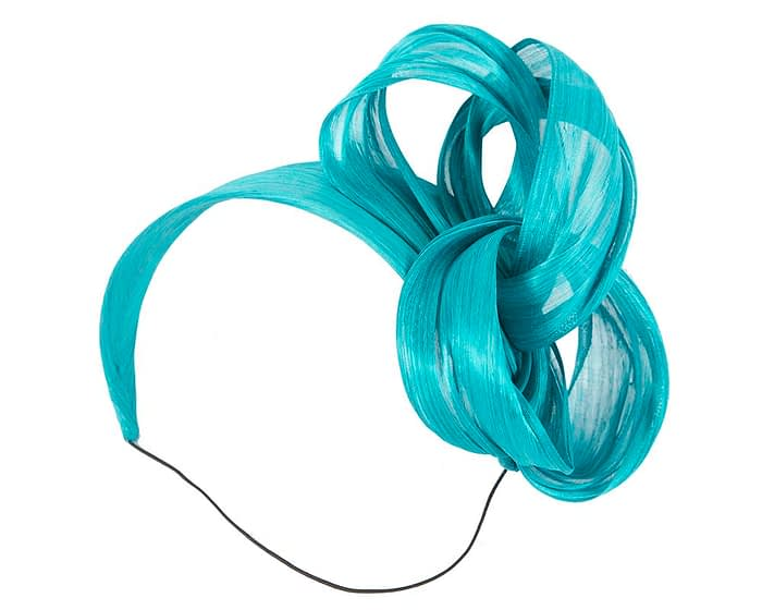 Turquoise retro headband racing fascinator by Fillies Collection Fascinators.com.au