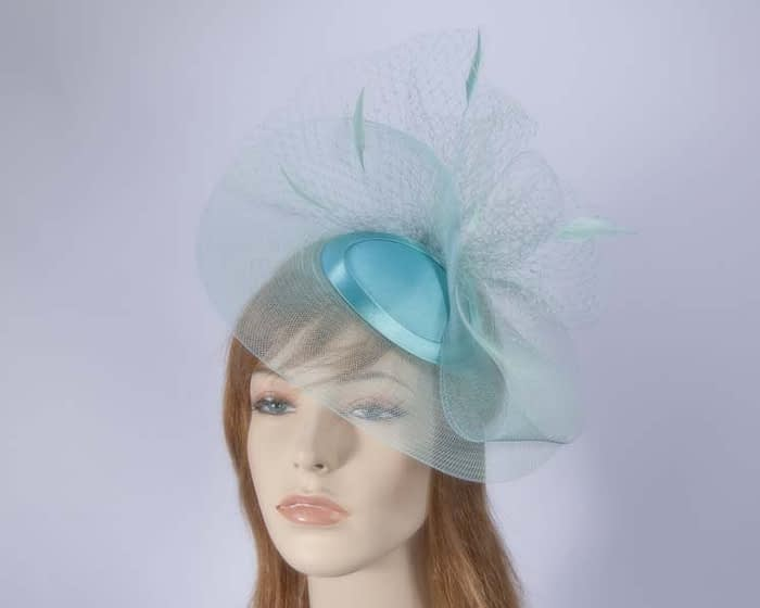 Aqua mother of the bride hat Fascinators.com.au