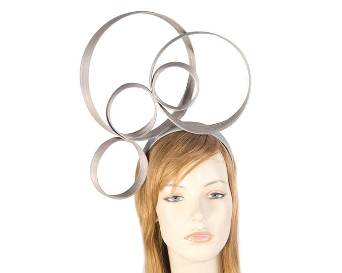 Grey designers fascinator Fascinators.com.au