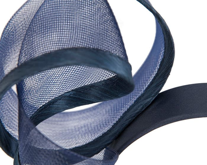 Bespoke navy racing fascinator by Fillies Collection Fascinators.com.au